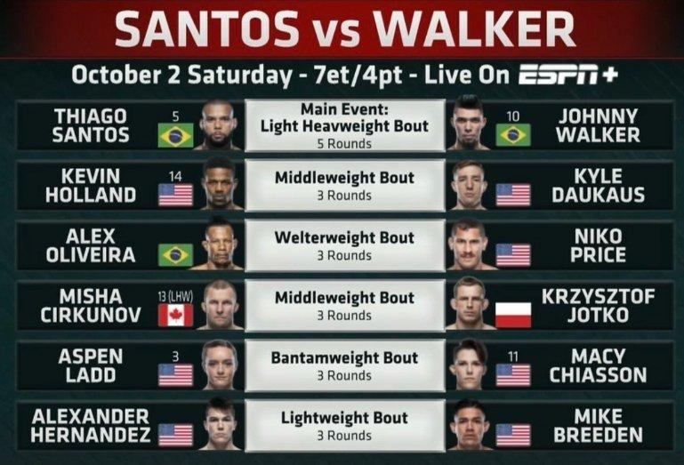 دانلود یو اف سی فایت نایت 193 | UFC Fight Night 193: Santos vs. Walker