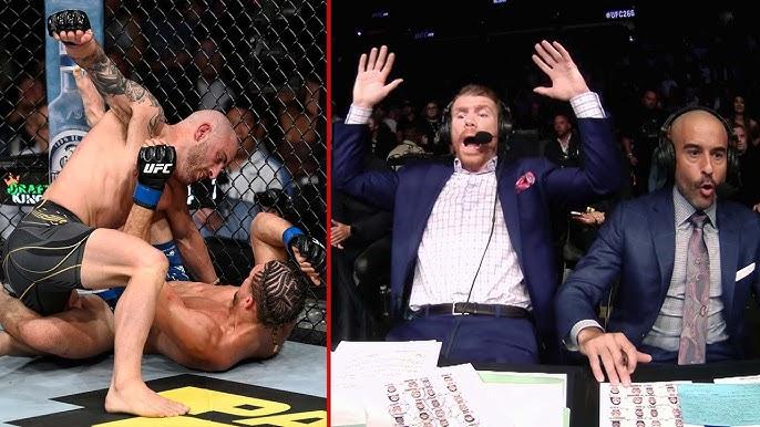 واکنش گزارشگران در رویداد یو اف سی 266 :  UFC 266 Commentator Booth Reactions+نسخه 1080