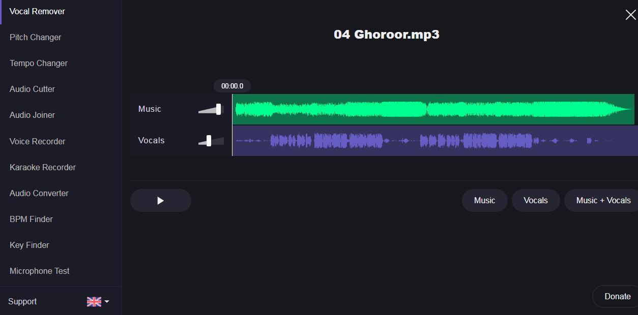 برنامه حذف صدای خواننده از آهنگ