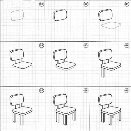 آموزش کشیدن نقاشی صندلی,کشیدن نقاشی صندلی,نقاشی صندلی ,آموزش کشیدن نقاشی صندلی,learn draw chair,