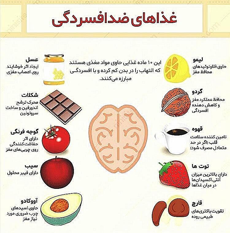 غذاهای ضد افسردگی